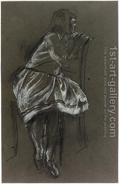 Girl Sitting on a Chair by Henry Tonks - Reproduction Oil Painting