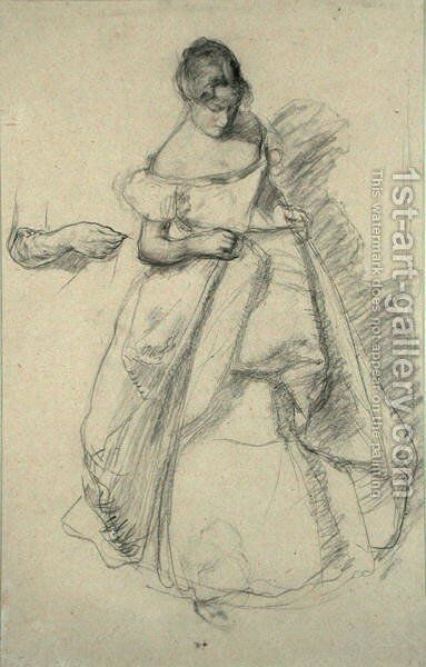 Study of a Girl by Henry Tonks - Reproduction Oil Painting