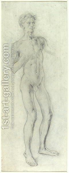 Standing Nude Boy by Henry Tonks - Reproduction Oil Painting