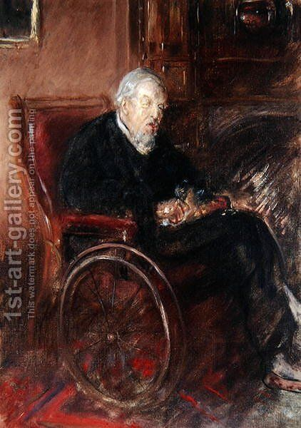Henry Tonk's Father in a Wheelchair by Henry Tonks - Reproduction Oil Painting