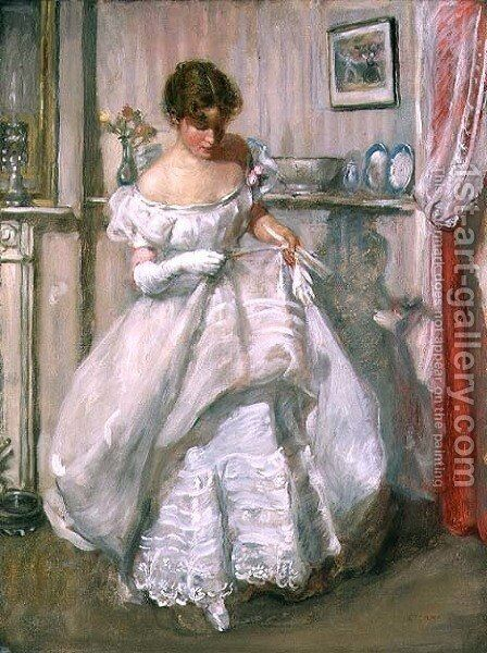 The Torn Gown by Henry Tonks - Reproduction Oil Painting