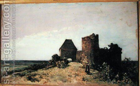 Ruins of the Chateau de Rozemont (Nievre) 1861 by Johan Barthold Jongkind - Reproduction Oil Painting