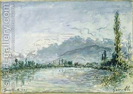 The River Isere at Grenoble, 1877 by Johan Barthold Jongkind - Reproduction Oil Painting
