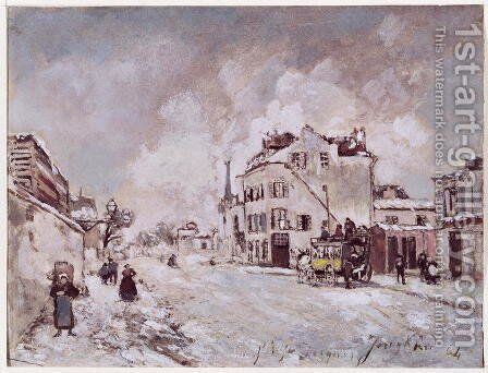 View of Faubourg Saint-Jacques by Johan Barthold Jongkind - Reproduction Oil Painting