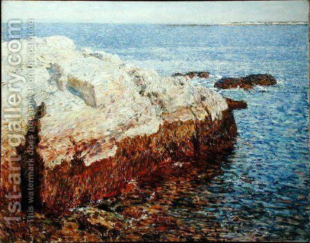 Cliff Rock, Appledore, 1903 by Childe Hassam - Reproduction Oil Painting