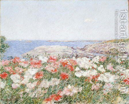 Poppies on the Isles of Shoals, 1890 by Childe Hassam - Reproduction Oil Painting