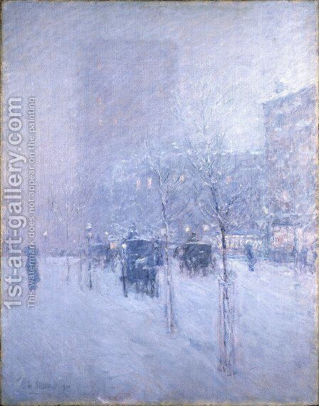 Late Afternoon, New York, Winter, 1900 by Childe Hassam - Reproduction Oil Painting