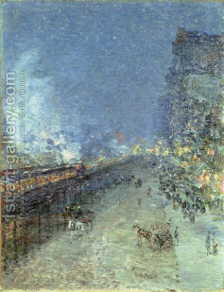 The El, New York, 1894 by Childe Hassam - Reproduction Oil Painting