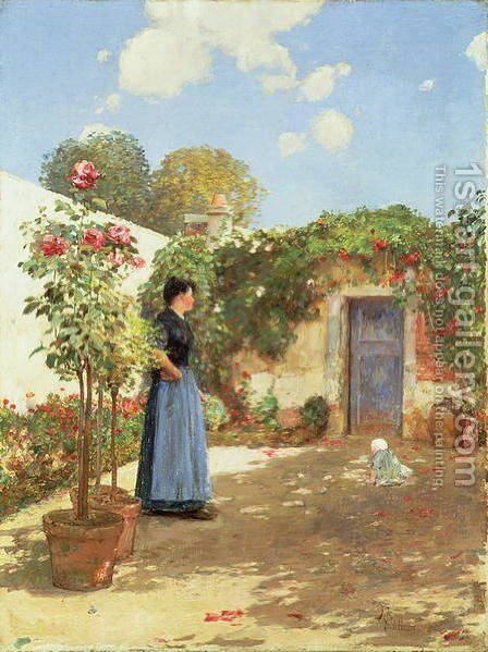 A Sunny Morning, Villiers-le-Bel, 1888 by Childe Hassam - Reproduction Oil Painting