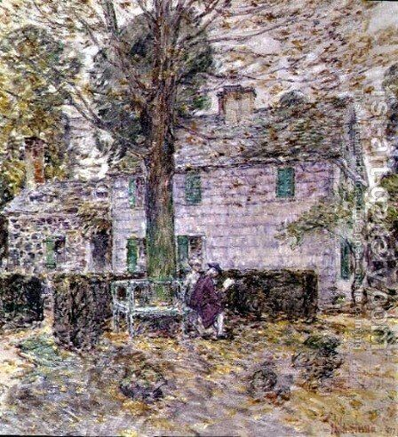 Indian Summer in Colonial Days, 1899 by Childe Hassam - Reproduction Oil Painting