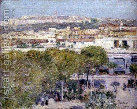 Place Centrale and Fort Cabanas, Havana, 1895 by Childe Hassam - Reproduction Oil Painting