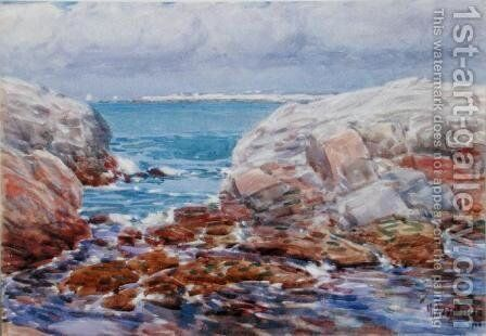 Duck Island, Isles of Shoals, 1906 by Childe Hassam - Reproduction Oil Painting