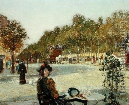 September Sunlight, Paris by Childe Hassam - Reproduction Oil Painting