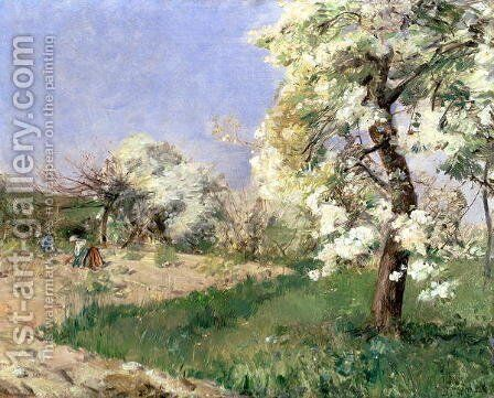 Pear Blossoms, Villiers-de-Bel by Childe Hassam - Reproduction Oil Painting