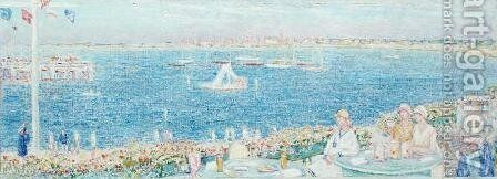 Afternoon, Devon Yacht Club, 1930 by Childe Hassam - Reproduction Oil Painting