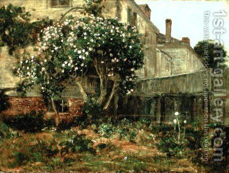 Lilac Time by Childe Hassam - Reproduction Oil Painting