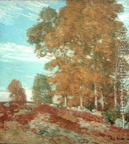 Autumn Hilltop, New England, 1906 by Childe Hassam - Reproduction Oil Painting