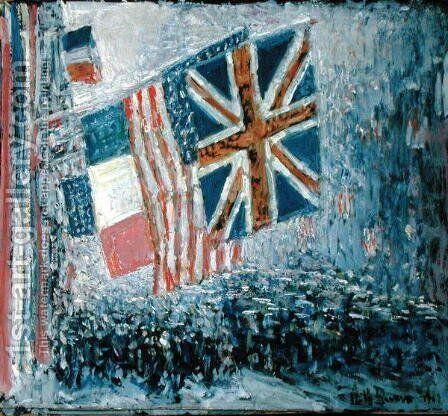 The Big Parade by Childe Hassam - Reproduction Oil Painting