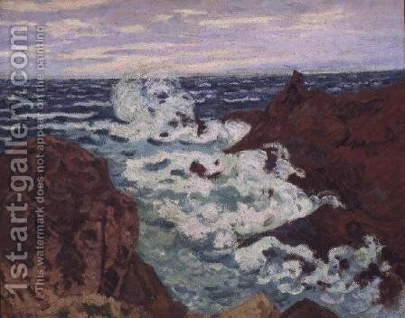 Storm at Agay, 1895 by Armand Guillaumin - Reproduction Oil Painting