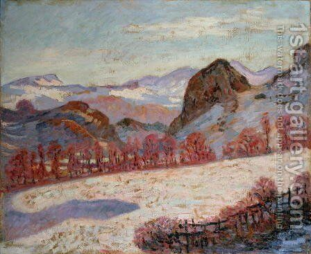 St. Sauves d'Auvergne, c.1900 by Armand Guillaumin - Reproduction Oil Painting