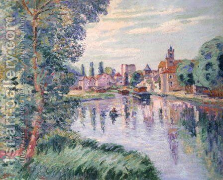 The Old Samois, c.1900 by Armand Guillaumin - Reproduction Oil Painting