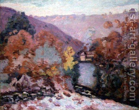 Landscape at La Creuse, Brittany, c.1910 by Armand Guillaumin - Reproduction Oil Painting