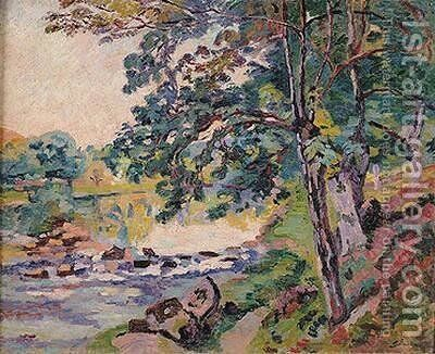 The Creuse at Genetin by Armand Guillaumin - Reproduction Oil Painting