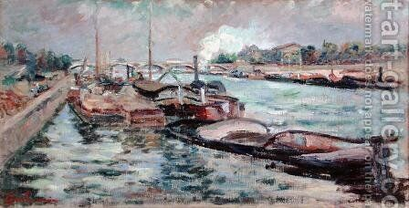 The Seine, 1867-68 by Armand Guillaumin - Reproduction Oil Painting