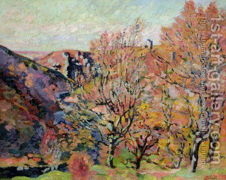 The Valley of the Sedelle in Crozant, c.1898 by Armand Guillaumin - Reproduction Oil Painting