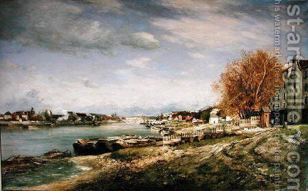 The old quay at Bercy, Paris, 1880 by Armand Guillaumin - Reproduction Oil Painting