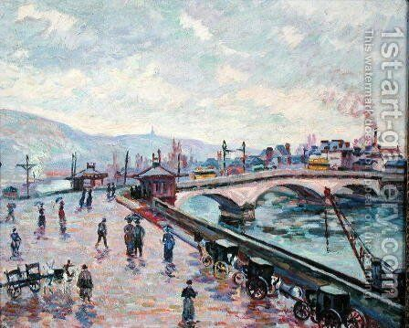 The Seine at Rouen by Armand Guillaumin - Reproduction Oil Painting