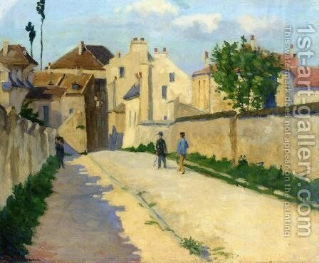Rue de Clamart at Vanves, c.1873 by Armand Guillaumin - Reproduction Oil Painting