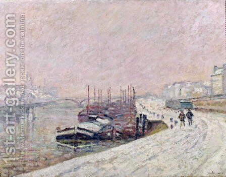 Snow in Rouen by Armand Guillaumin - Reproduction Oil Painting