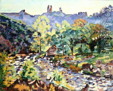 Ruins of the Chateau, Crozant, c.1905 by Armand Guillaumin - Reproduction Oil Painting
