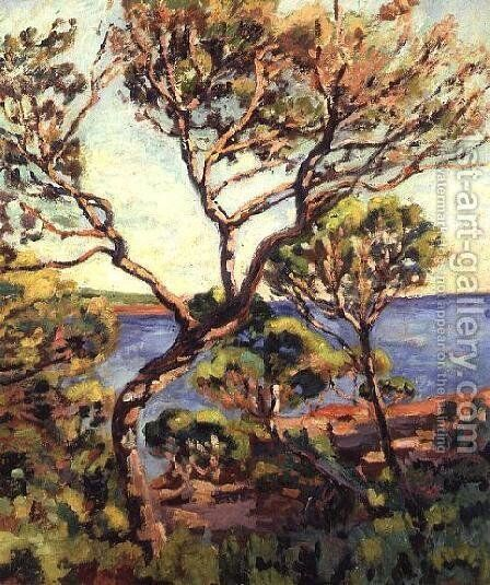 Landscape in the Midi by Armand Guillaumin - Reproduction Oil Painting