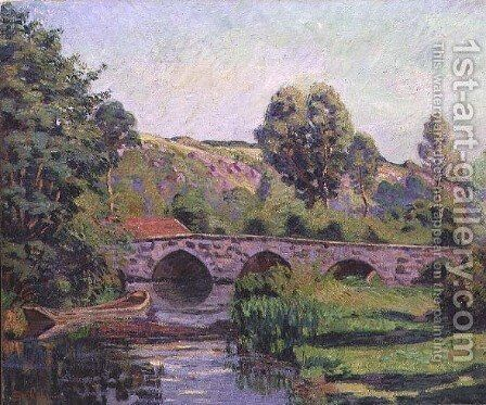 The Bridge at Boigneville, c.1894 by Armand Guillaumin - Reproduction Oil Painting
