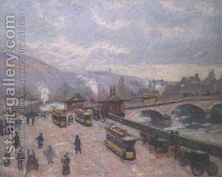 The Pont Corneille at Rouen, 1898 by Armand Guillaumin - Reproduction Oil Painting