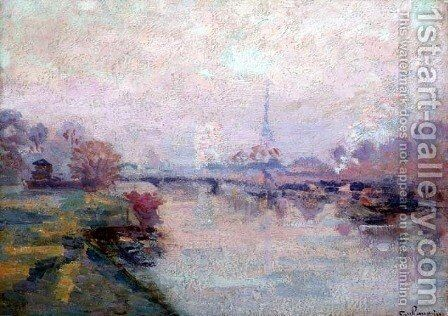 The Seine at Paris by Armand Guillaumin - Reproduction Oil Painting