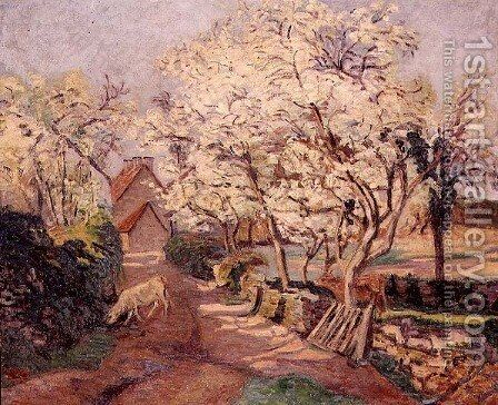 Plum Trees in Blossom by Armand Guillaumin - Reproduction Oil Painting