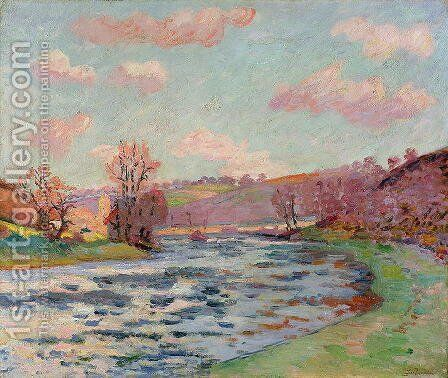 Banks of the Creuse, Limousin, c.1912 by Armand Guillaumin - Reproduction Oil Painting