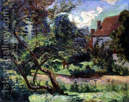 Orchard at the Edge of the Wood, Miregaudon, 1892 by Armand Guillaumin - Reproduction Oil Painting