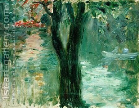 Sunset over the Lake, Bois de Boulogne, 1894 by Berthe Morisot - Reproduction Oil Painting