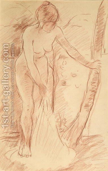 Standing Bather 1888 by Berthe Morisot - Reproduction Oil Painting