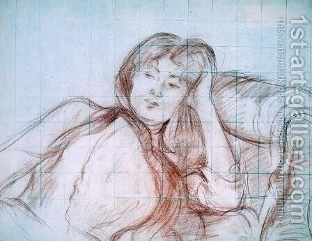 Young Girl Leaning on her Elbow 1887 by Berthe Morisot - Reproduction Oil Painting