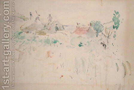 The Haystacks in Jersey 1886 by Berthe Morisot - Reproduction Oil Painting