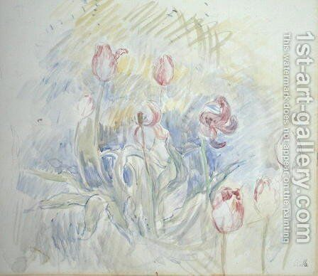 Tulips 1890 by Berthe Morisot - Reproduction Oil Painting