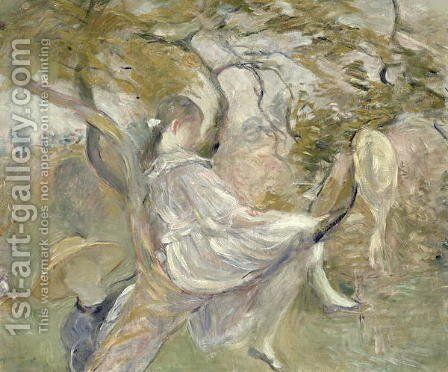 In the Apple Tree 1890 by Berthe Morisot - Reproduction Oil Painting