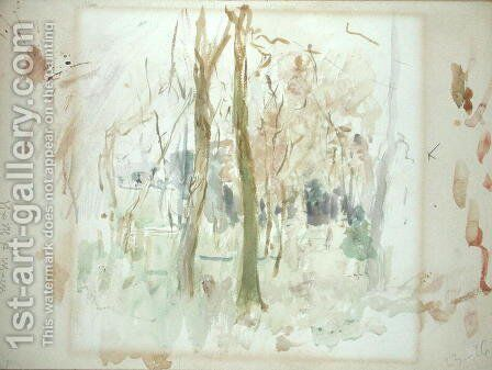 Red Trees 1885 by Berthe Morisot - Reproduction Oil Painting