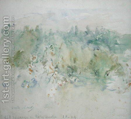 Normandy Landscape 1880 by Berthe Morisot - Reproduction Oil Painting