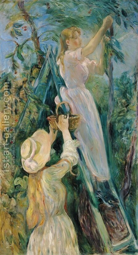 The Cherry Picker by Berthe Morisot - Reproduction Oil Painting